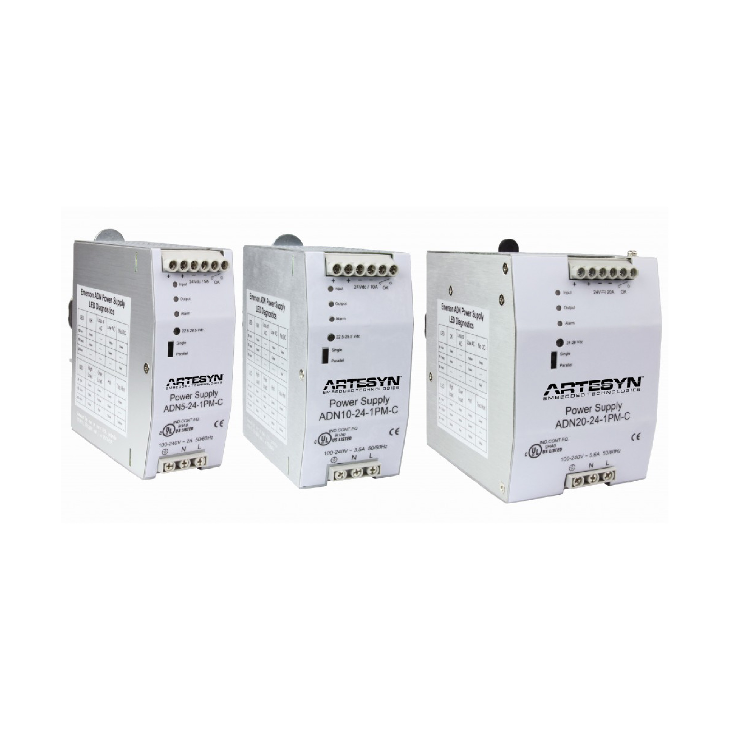 DIN Rail Mounting AC-DC Power Supplies