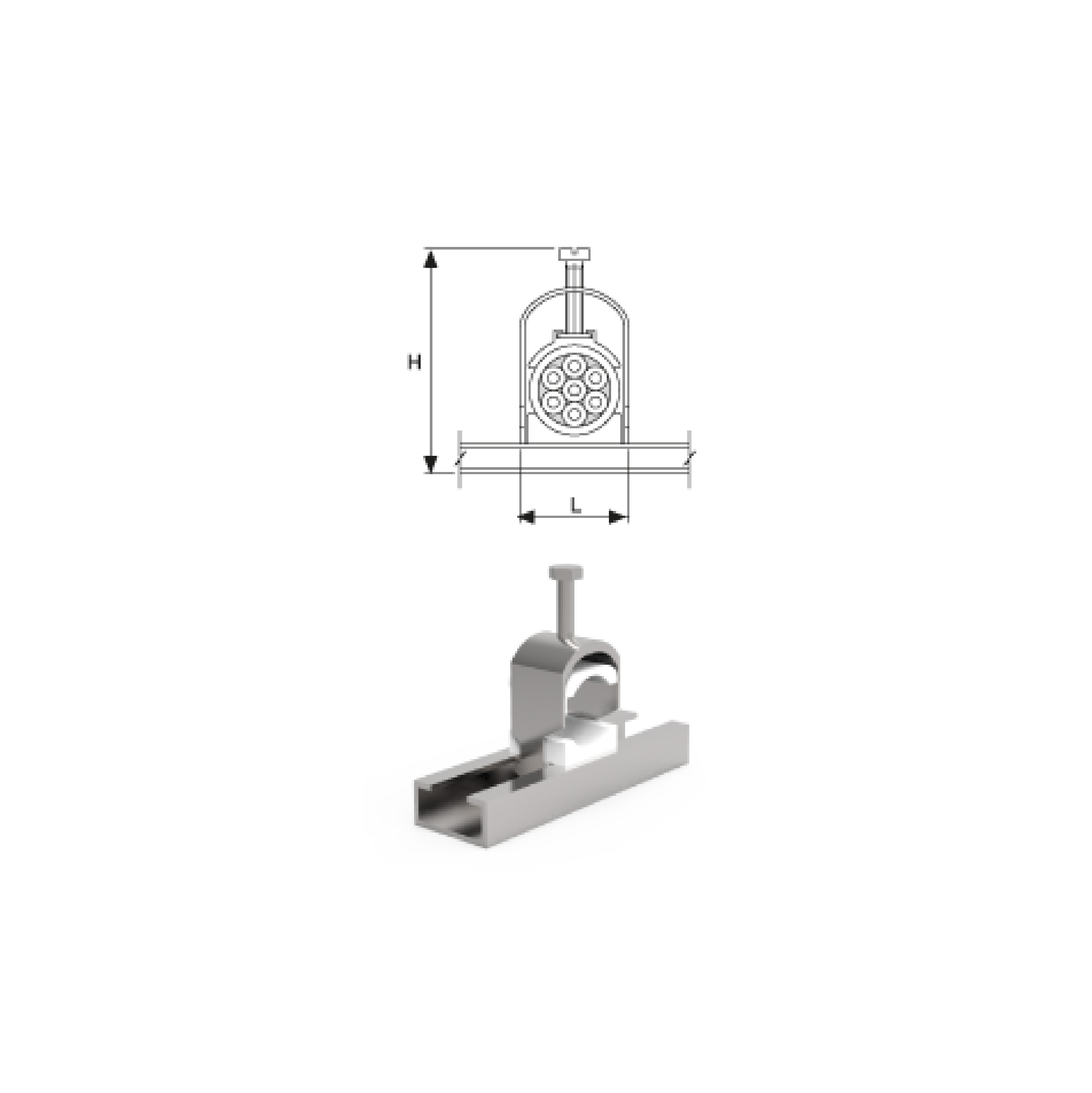 Steel Cable Clamps/Single Clamp Set